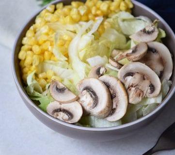 Easiest Grilled Mushroom Salad