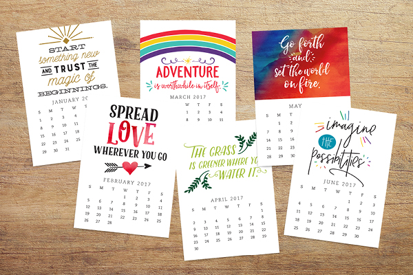 The Enchanted Prints Inspirational Planner Subscription// This digital/printable bundle was designed to keep us moving toward accomplishing goals, not just in the first two weeks of the year, but month after month. With a focus on balance, the subscription includes all the tools you need to create a happy + healthy life.