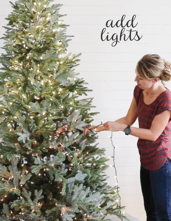 How To Decorate A Christmas Tree, Add Lights By Sincerely Sara D On Remodelaholic