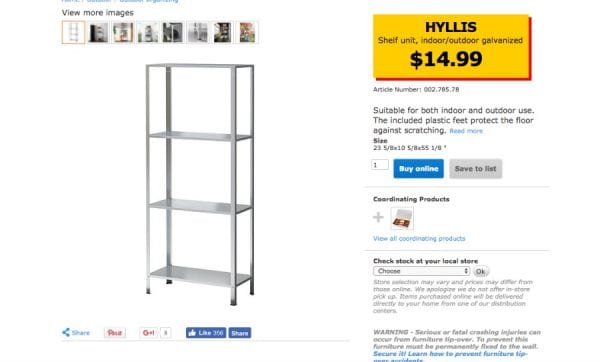 Ikea Hyllis Shelf To Industrial Planter