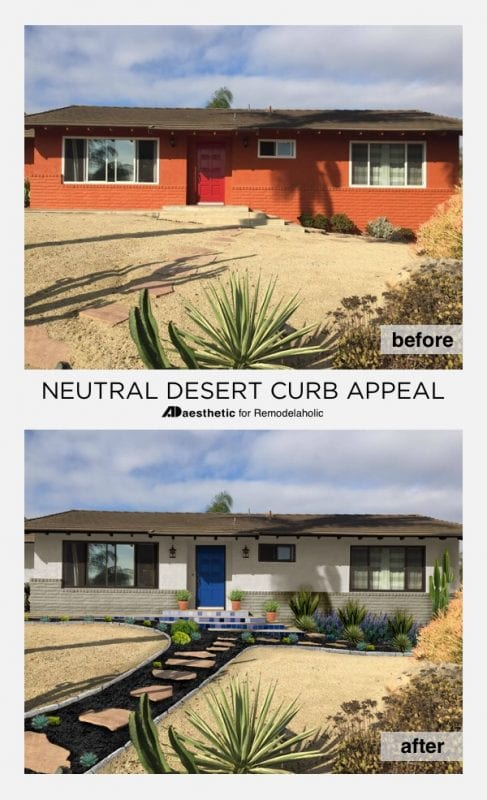 neutral southwest curb appeal