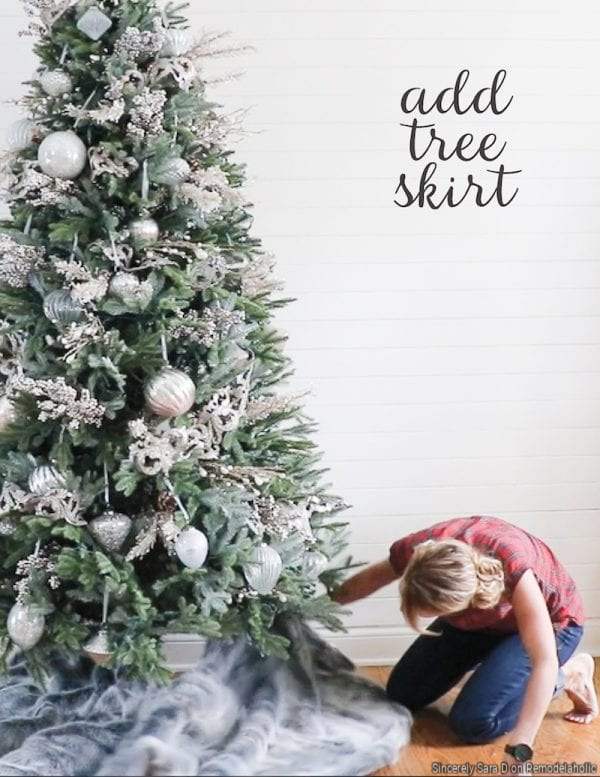 Steps To Decorating A Christmas Tree, Add A Tree Skirt, By Sincerely Sara D On Remodelaholic