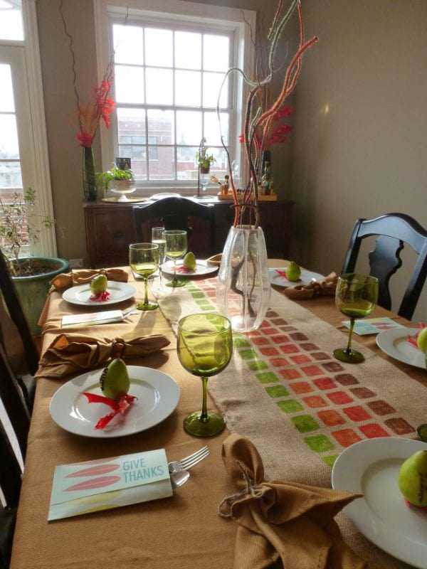Thanksgiving Table Design Improvised