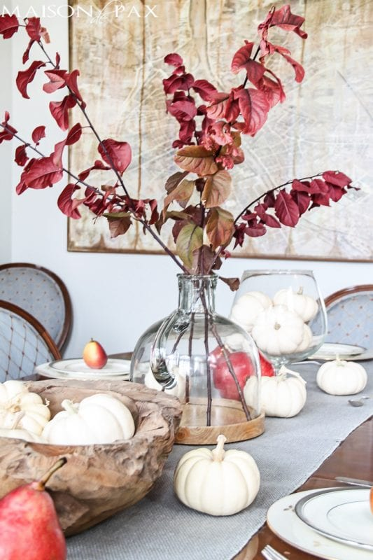 Thanksgiving Tablescape Centerpiece Maison De Pax