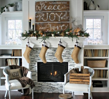 Get Ready To Decorate Your Fireplace Mantel For Christmas So May Fun And Unique Ideas In This List Of 30 Perfect Holiday Mantels Featured On Remodelaholic Com