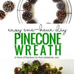 Diy Pinecone Wreath Remodelaholic