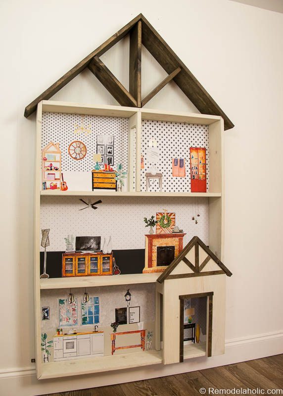 Remodelaholic | DIY Dollhouse Tutorial + Free Printable ...