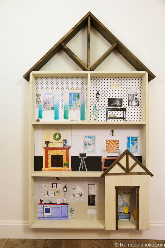 Dollhouse With Building Plan And Free Printables 14