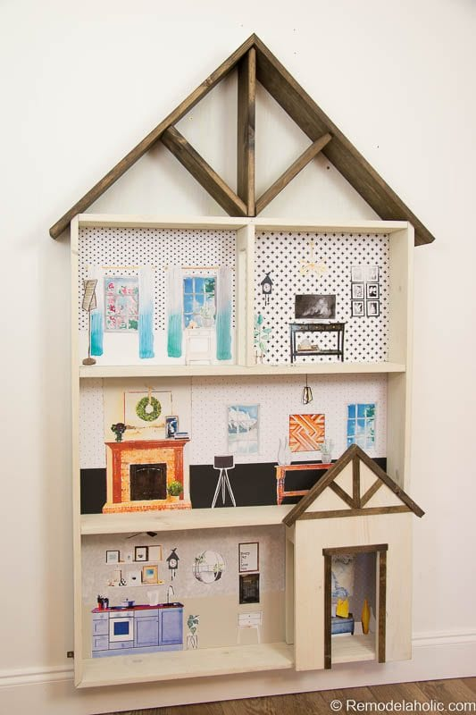 Dollhouse With Building Plan And Free Printables 15