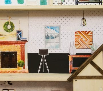 DIY Dollhouse Tutorial + Free Printable Dollhouse Furniture