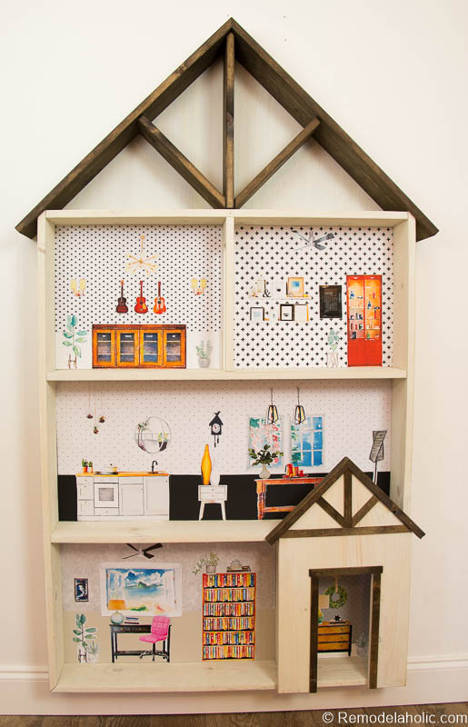 Remodelaholic Diy Dollhouse Tutorial Free Printable