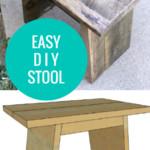 Easy DIY Wooden Stool Or Step Stool Using Reclaimed Wood, Remodelaholic