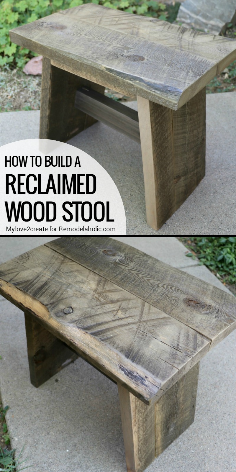 Remodelaholic diy reclaimed wood stool for How to move a building