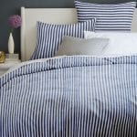 Modern Coastal Bedroom Blue Stripe Duvet