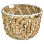 Modern Coastal Bedroom Woven Basket