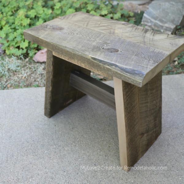 Reclaimed Wood Stool DIY Step Stool Plans, Remodelaholic