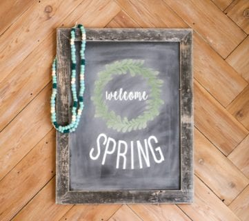 How to Make Reusable Faux Chalkboard Signs
