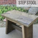 Simple Reclaimed Wood Step Stool, Easy Diy Stool Plans, Remodelaholic