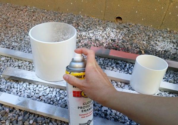 Spraying Glass Planters White