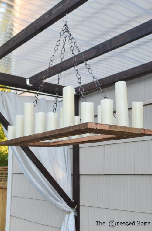 Remodelaholic How To Make Your Own Rustic Candle Outdoor