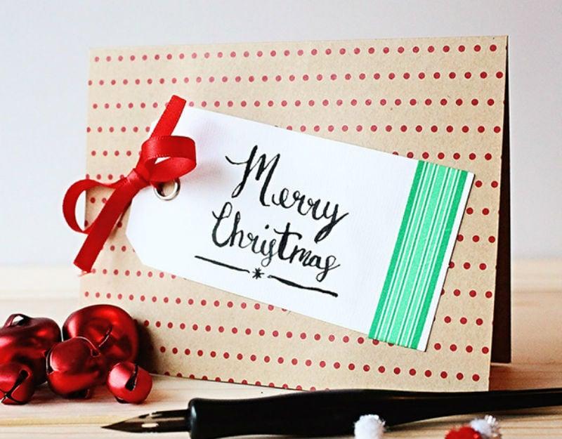 remodelaholic 11 easy diy christmas cards - Christmas Cards Diy