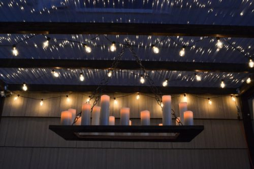 13 Beautiful DIY Wireless Outdoor Candle Chandelier, By The Creative Home Featured On @Remodelaholic