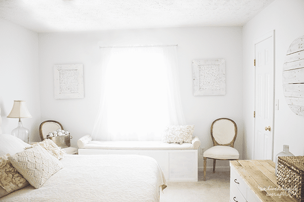 15 Rustic White Master Bedroom, By We Lived Happily Ever After Featured On @Remodelaholic