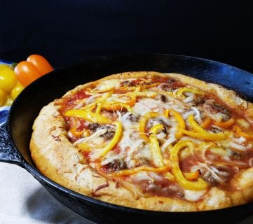 Delicious One Pan Deep Dish Pizza