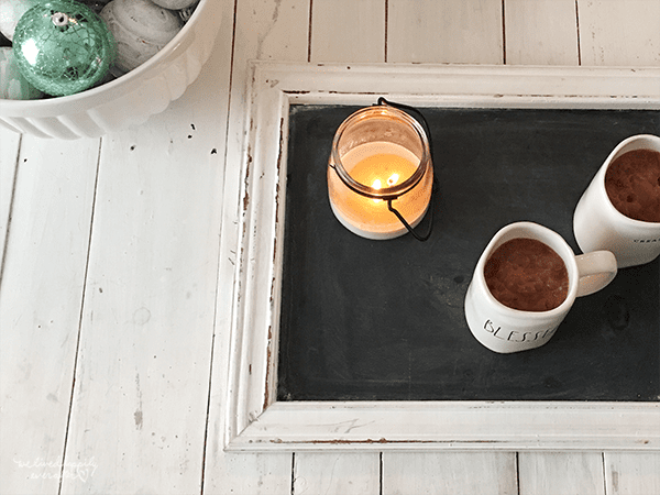 27 Reclaimed Chalkboard For Serving Tray, By We Lived Happily Ever After Featured On @Remodelaholic
