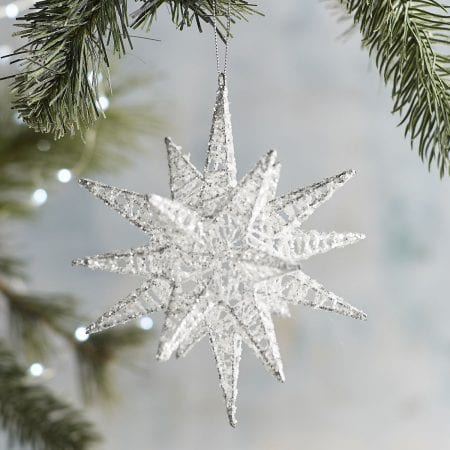 Silver Multi Point Star Ornament