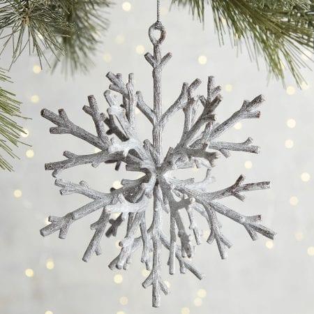 Rustic Twig Snowflake Ornament