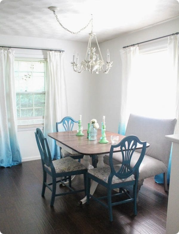 5 Add A Little Color To Your Windows With DIY Ombre Curtains By Lovely Etc Featured On @Remodelaholic