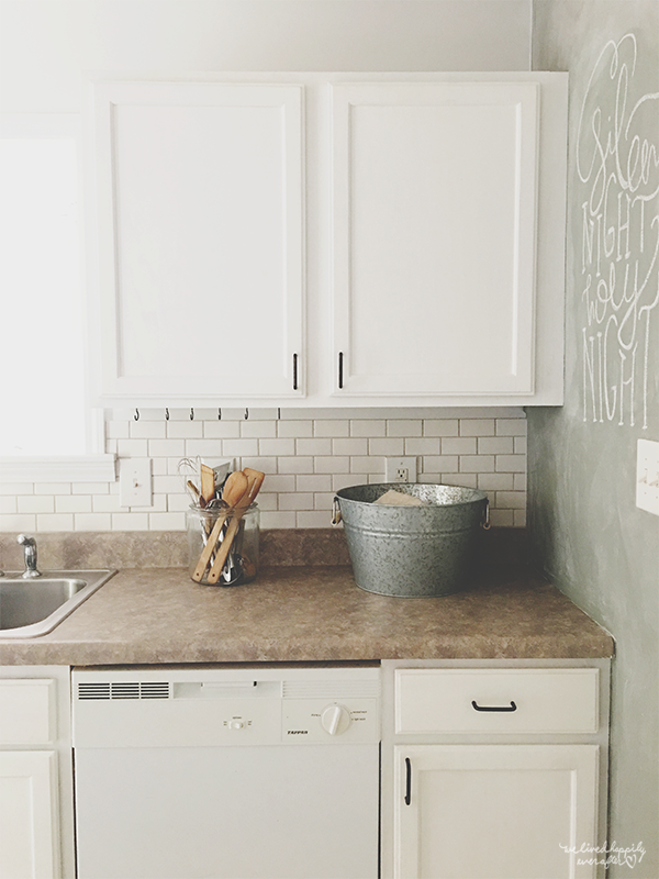 6 Rustic White Kitchen, By We Lived Happily Ever After Featured On @Remodelaholic
