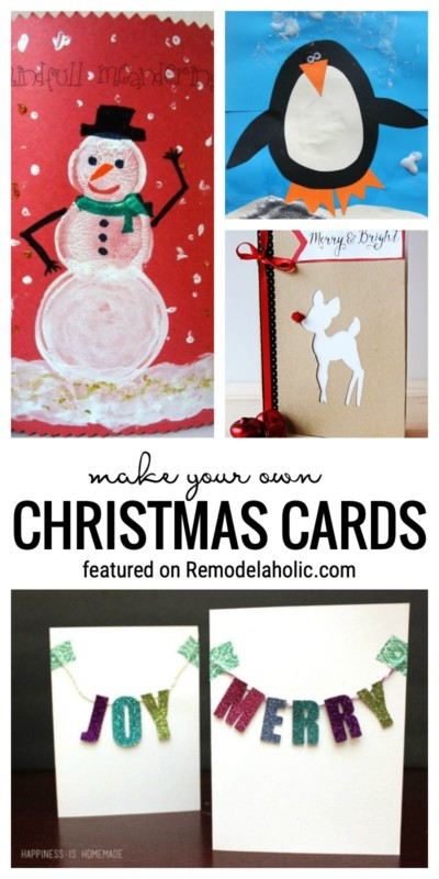 Adorable DIY Christmas Cards You Can Make At Home Featured On Remodelaholic.com