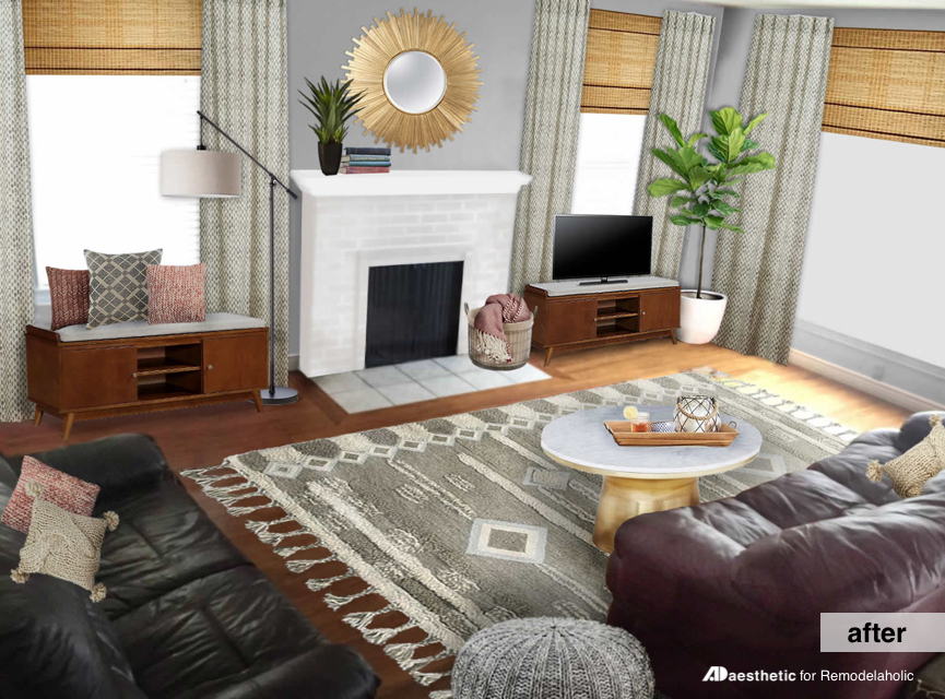 Remodelaholic Real Life Rooms Neutral Living Room With
