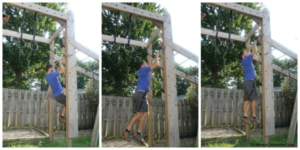 DIY Ninja Obstacle Course, Salmon Ladder, By Girl Meets Carpenter Featured On @Remodelaholic