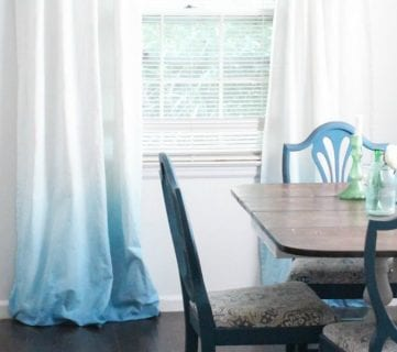 Make Your Own Ombre Dip Dye Curtains