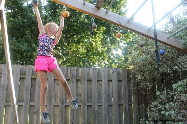 DIY Ninja Warrior Obstacle Course With Cannonballs, By Girl Meets Carpenter Featured On @Remodelaholic