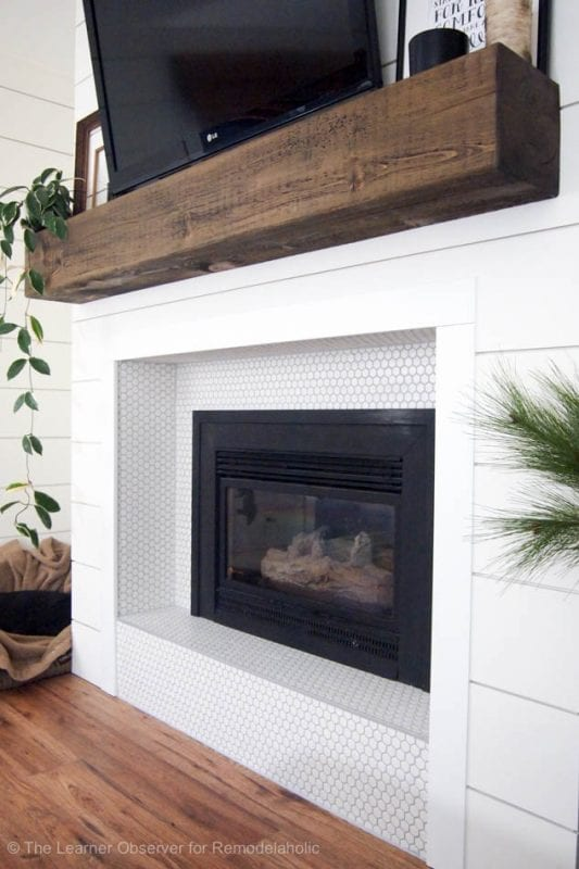 Fireplace And Mantle Makeover The Learner Observer For Remodelaholic 11