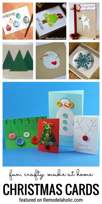 Fun, Crafty, Make At Home Christmas Cards Featured On Remodelaholic.com