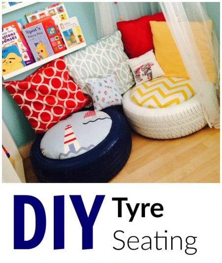 Grillo Designs, Kids Reading Corner Seating From Tires