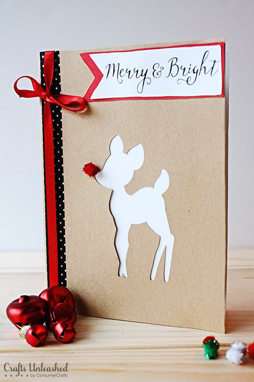Rudolph card. Send some handmade sentiments to your family and friends this Christmas season. Use one of these 11 Easy DIY Christmas Cards featured on Remodelaholic.com