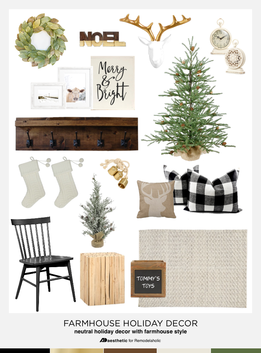 Farmhouse Holiday Decor @Remodelaholic