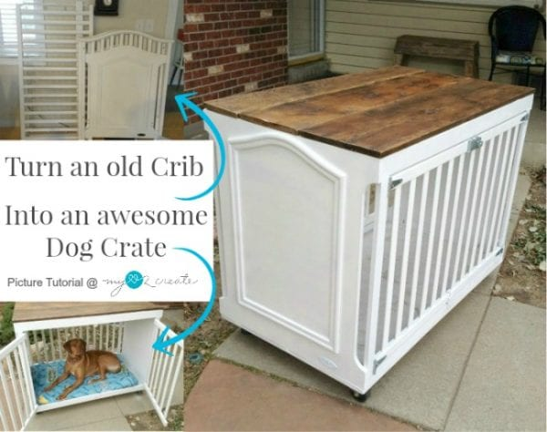 MyLove2Create, Crib Upcycle Into Dog Crate