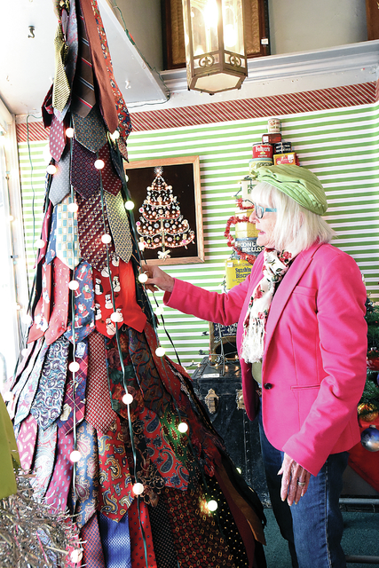 Necktie Christmas Tree Sedalia Democrat