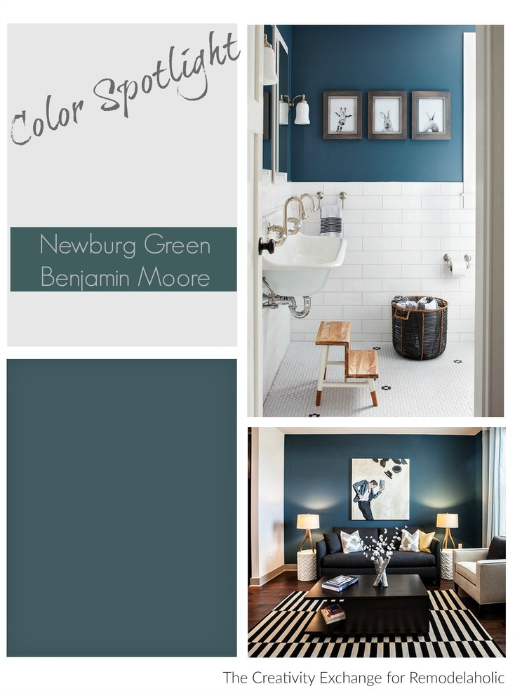 Remodelaholic Color Spotlight Benjamin Moore Newburg Green