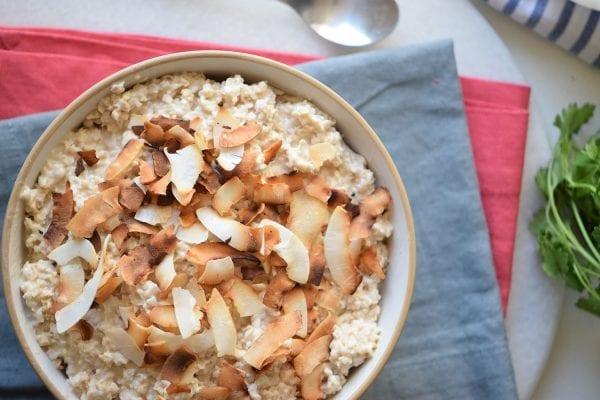 Toasted Coconut Oatmeal
