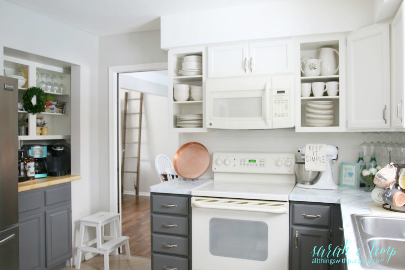remodelaholic | diy budget-friendly white kitchen renovation with