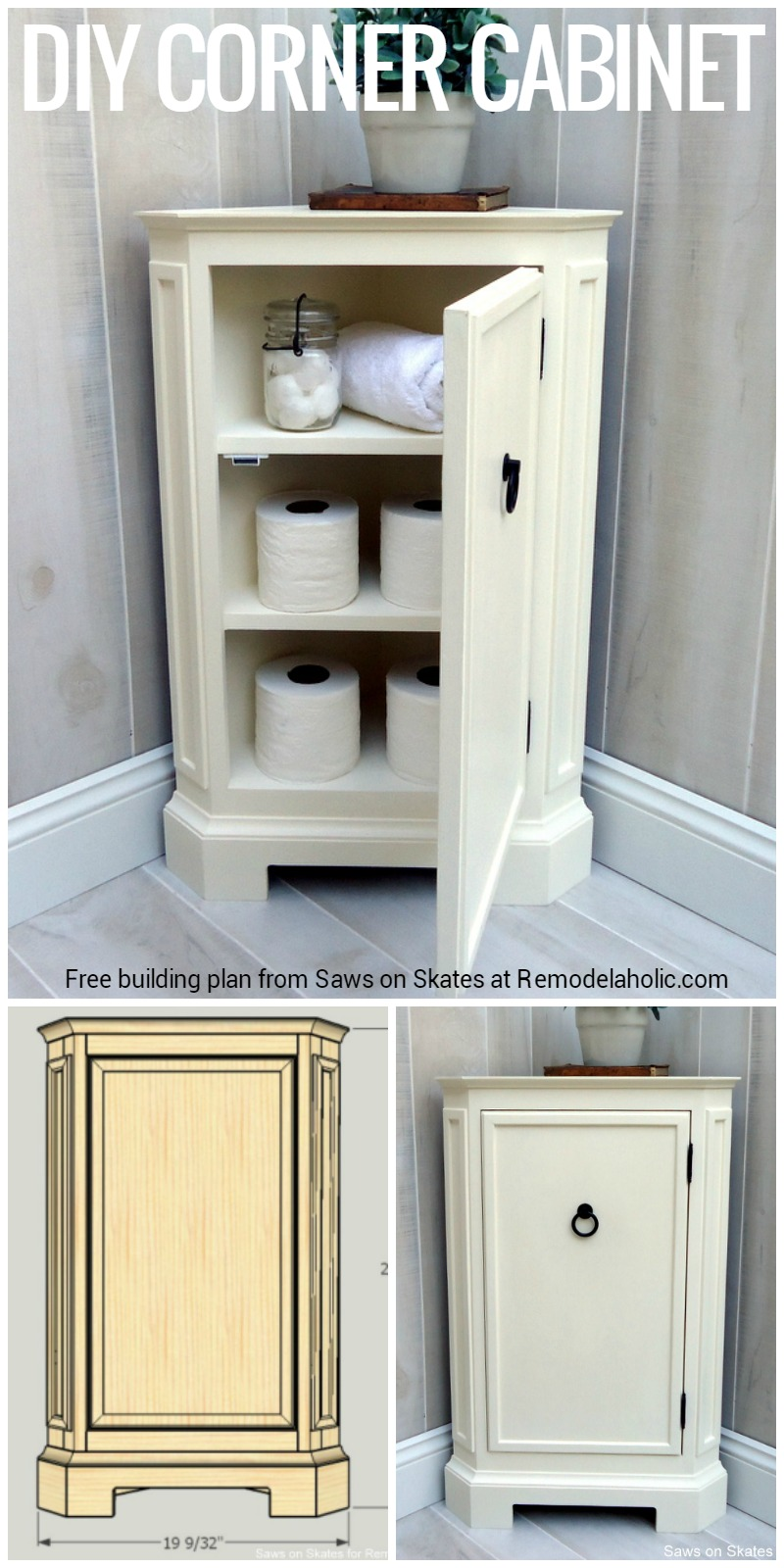 Remodelaholic How To Build A Catalog Inspired Corner Cabinet