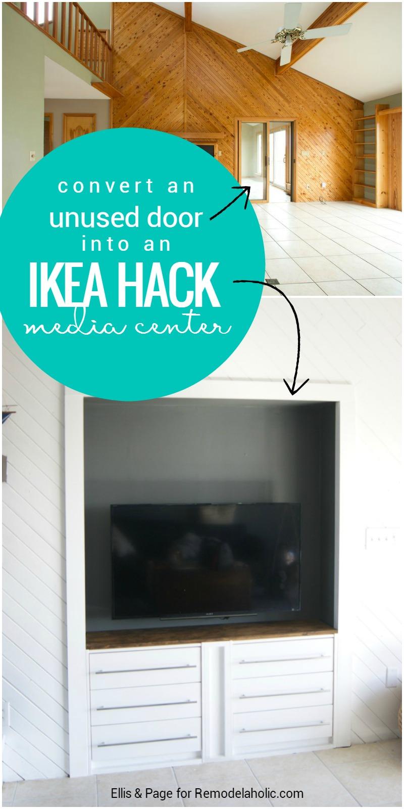 Remodelaholic Ikea Hack Rast Built In Media Center